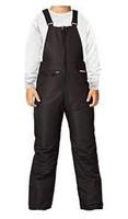 Arctix Insulated Youth Snow Bib Overalls, Black,