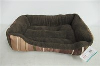 ASPCA Microtech Striped Dog Bed Cuddler, 28 by 20