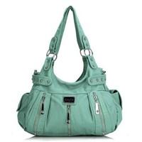 Scarleton 3 Front Zipper Shoulder Bag, Mint