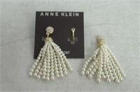 """""""As Is"""" Anne Klein Women's Gold Tone Pearl Tassel"""