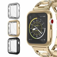 for Apple Watch Case 38mm, UMTELE Plated TPU
