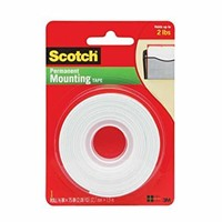 (2) Scotch Mounting Tape, 110-ESF, White, 0.5 in x