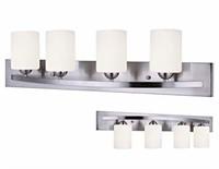 Canarm Luztar Hampton 4 Bulb Vanity Light, Brushed