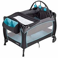 Evenflo Portable Baby Suite Deluxe, Koi, Blue,
