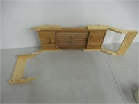 """""""As Is"""" Luxe Bamboo Bathtub Tray Caddy Adjustable"""