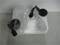 One-Light Adjustable Mini Pendant Handblown Clear