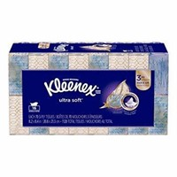 Kleenex Ultra Soft Facial Tissues, Flat Box, 70