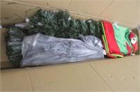 6' Christmas Tree Fiber Optic Pre-Lit w/ Berry LED