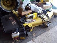JOHN DEERE GT235 LAWN TRACTOR W/CAB & IMPLEMENTS