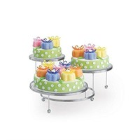 Cake Display Stand, Cakes 'N More, 3 Tier, Chrome,