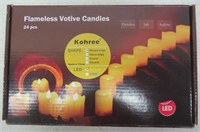 Kohree Set of 24 LED Votive Candles with Remote