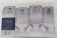Mikasa Cheers Metallic Ombre Stemless Wine Glass,