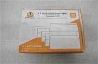 White Invitation 5 x 7 Envelopes 110 Pack -