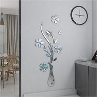 HEYING Mirror Flower Vase 3D Crystal Acrylic DIY