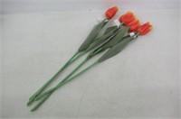 Plastic Tulip Set of 4 - Orange