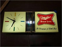 Miller high life clock great condition 24 x 10