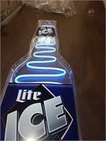Light ice bottle. new