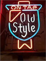 Old style on tap 3 color pretty sign.   18 x 21