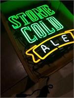 Vintage stone cold ale 22 x 19   95 model