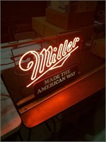 Vintage Miller made in America neon  26x19