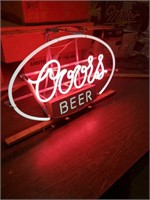 Vintage Pink Coors with white border