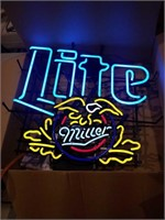 Miller Lite with Eagle.  New in box 1997 25x27