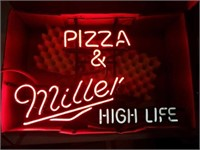 Miller High Life, Pizza and miller 24x16