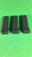 3- 9mm Glock Gen24 Magazines- 17 Rounds