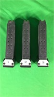3-Glock 35- .40 Cal Magazines- 15 Rounds