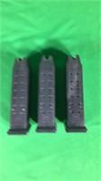 3- .40 Cal. Glock 23 Magazines- 15 Rounds