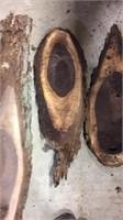 3- Pcs. Of Black Walnut Cut Offs- Rough Cut
