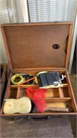 3- Wooden Boxes w/ Contents- See Pictures