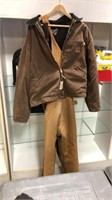 Carhartt 2XL Coat & Bibs Size 46x30