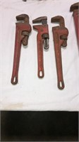 4 Rigid Pipe Wrenches