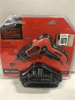 BLACK+DECKER RECHARGEABLE SCREWDRIVER