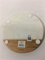 FLOOR MARBLE CHEESE TRAY (WITH SMALL CRACK)