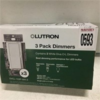LUTRON 3 PACK DIMMERS DIMMING LED BULBS