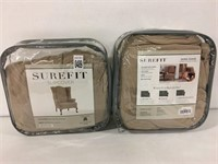 SET OF 2 SUREFIT SLIPCOVER WING CHAIR