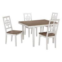 ASHLEY 5-PIECE TABLE AND CHAIR SET (NOT ASSEMBLED)