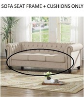LIVING ROOM SOFA FRAME AND CUSHIONS ONLY