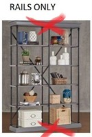 SHELVING BOOKCASE RAILS ONLY(TOP AND UNDERNEATH