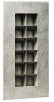 AGED ZINC 12 POCKET WALL PLANTER