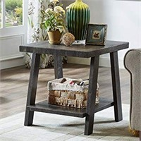 WOOD END TABLE(NOT ASSEMBLED)