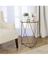 HOURGLASS METAL ACCENT TABLE (NOT ASSEMBLED)