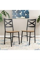 METAL X-BACK DINING CHAIR SET OF 2 (NOT ASSEMBLED)