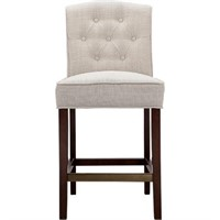 MARIAN TUFTED COUNTER STOOL IN LINEN