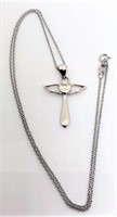 Sterling Silver Cross Necklace; 2.8Grams
