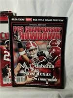 Lot of Crimson Tide Alabama Magazines, Calander