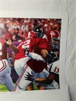 "Signed Daniel Moore ""The Last Pass"" A.P. Print"