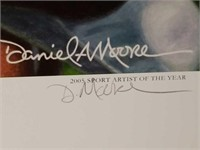 """Signed Daniel Moore """"The Last Pass"""" A.P Print"""